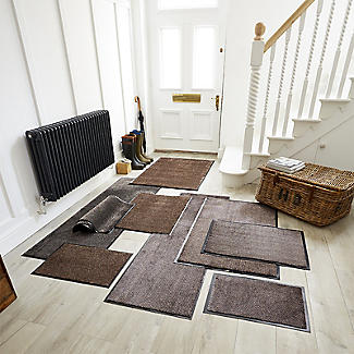 Microfibre Super-Absorbent Indoor Door Mat Granite 58 x 39cm alt image 2