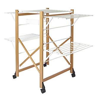 Italian Design Large Folding Wooden Clothes Airer alt image 1