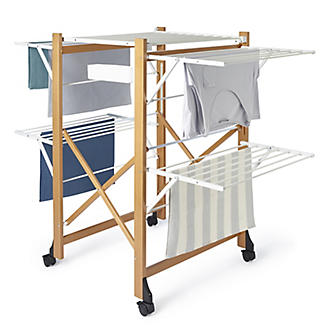 Italian Design Large Folding Wooden Clothes Airer alt image 2