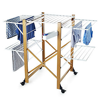 Italian Design Large Folding Wooden Clothes Airer alt image 9