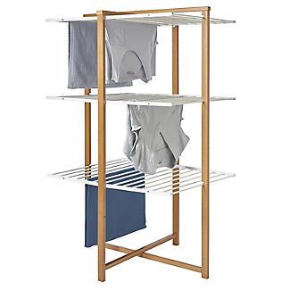Italian Design Folding Wooden 3-Tier Tower Clothes Airer alt image 2