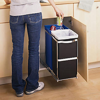 simplehuman Under-Counter Pull Out Twin Recycler Bin 35L alt image 2