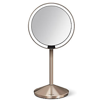 simplehuman Mini Sensor Magnifying Mirror Rose Gold