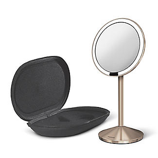 simplehuman Mini Sensor Magnifying Mirror Rose Gold alt image 2