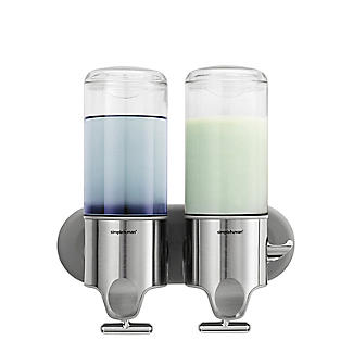 simplehuman Twin Wall Mount Pump Soap Dispenser 2 x 444ml