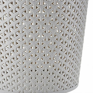 Faux Rattan Waste Paper Basket Grey 13L alt image 4