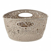 Lace Effect Storage Tub Dune 7L