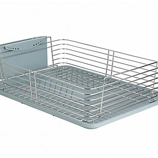 Lakeland Deco Stainless Steel Dish Drainer with Teal Drip Tray alt image 2