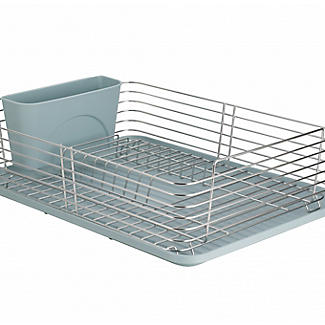 Lakeland Deco Stainless Steel Dish Drainer with Teal Drip Tray alt image 4