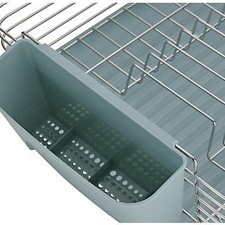 Lakeland Deco Stainless Steel Dish Drainer with Teal Drip Tray alt image 5