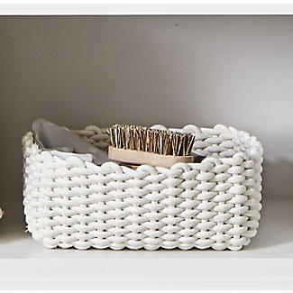 Small Woven Rope Storage Tray Cream 4L alt image 2