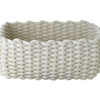 Small Woven Rope Storage Tray Cream 4L alt image 4