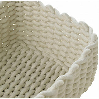 Small Woven Rope Storage Tray Cream 4L alt image 5