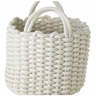 Mini Round Woven Rope Storage Tote Cream 3L alt image 4