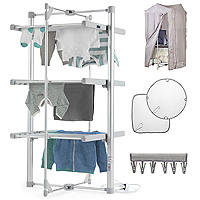 Dry:Soon 3-Tier Heated Airer and Peg Offer Bundle