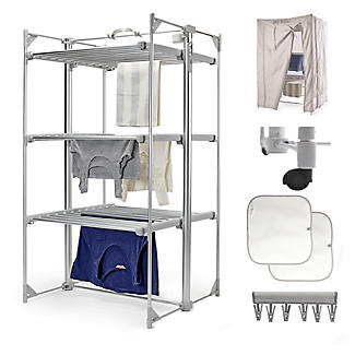 Dry:Soon Deluxe 3-Tier Heated Airer and Full Accessories Offer alt image 1