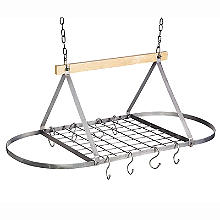 Industrial Kitchen Vintage-Style Ceiling Hanging Pot and Pan Rack