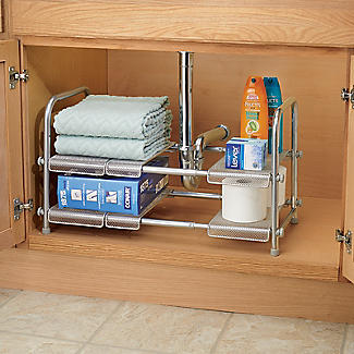 Expandable Two-Tier Under-Sink Organiser alt image 2