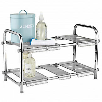 Expandable Two-Tier Under-Sink Organiser alt image 4