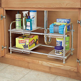 Expandable Two-Tier Under-Sink Organiser alt image 6