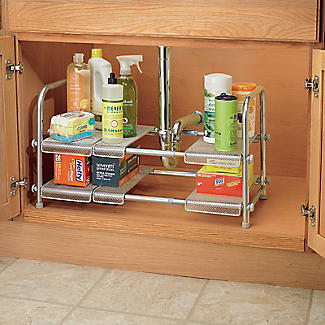 Expandable Two-Tier Under-Sink Organiser alt image 7