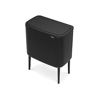 Brabantia Bo Touch Bin with 2 Inner Buckets - Matt Black 11 and 23L  alt image 3