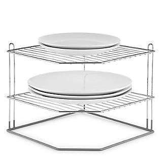 Lakeland Chrome Plated Corner Plate Rack