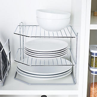 Lakeland Chrome Plated Corner Plate Rack alt image 2