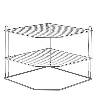 Lakeland Chrome Plated Corner Plate Rack alt image 3