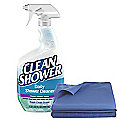 Clean Shower Spray and Clean 'n' Gleam Cleaning Cloth Set