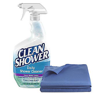 Clean Shower Spray And Clean U0027nu0027 Gleam Cleaning Cloth Set
