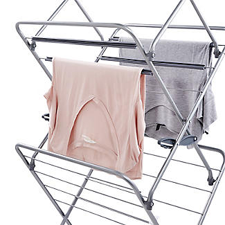 Easy-Up Concertina Indoor Clothes Airer Deluxe Grey 14m alt image 10