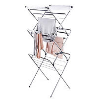 Easy-Up Concertina Indoor Clothes Airer Deluxe Grey 14m