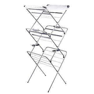 Easy-Up Concertina Indoor Clothes Airer Deluxe Grey 14m alt image 8