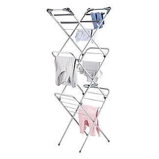 Slimline Easy-Up Concertina Indoor Clothes Airer Deluxe Grey 8m