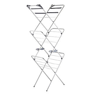 Slimline Easy-Up Concertina Indoor Clothes Airer Deluxe Grey 8m alt image 5