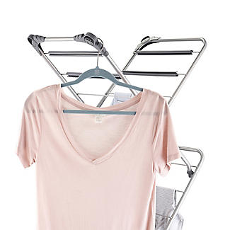 Slimline Easy-Up Concertina Indoor Clothes Airer Deluxe Grey 8m alt image 6