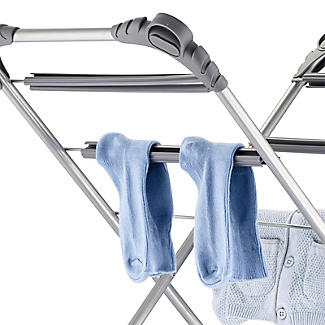 Slimline Easy-Up Concertina Indoor Clothes Airer Deluxe Grey 8m alt image 7