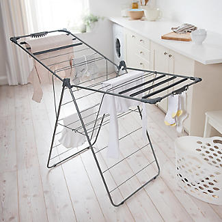 Winged Indoor Clothes Airer Deluxe Grey 16m alt image 2