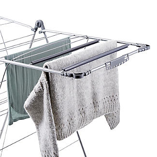 Winged Indoor Clothes Airer Deluxe Grey 16m alt image 6