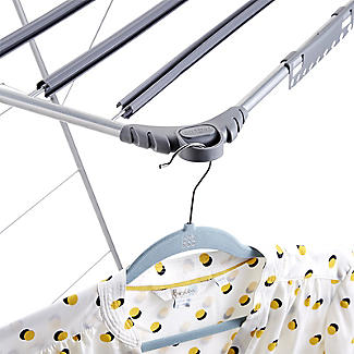 Winged Indoor Clothes Airer Deluxe Grey 16m alt image 8