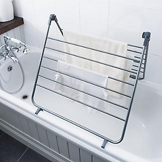 Over-Bath Indoor Clothes Airer Deluxe Grey 7.5m alt image 2