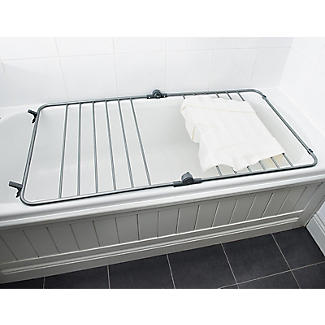 Over-Bath Indoor Clothes Airer Deluxe Grey 7.5m alt image 3