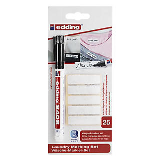 Edding Laundry Marking Set with Iron-On Labels and Fine-Tipped Marker alt image 5