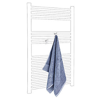 Towel Rail Hooks for Airing Towels and Bathrobes - Pack of 2