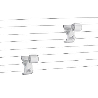 Towel Rail Hooks for Airing Towels and Bathrobes - Pack of 2 alt image 3