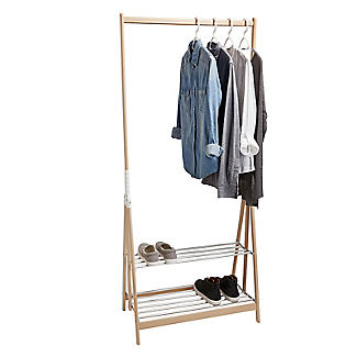 Foppapedretti Italian Folding Clothes Rail And Shoe Rack Alt Image 1