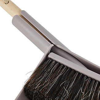 Smart Microfiber System Natural Bristle Dustpan and Brush Set alt image 3