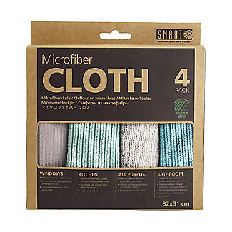 Smart Microfiber System Microfibre Cleaning Cloths - Pack of 4 alt image 3