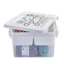 SmartStore Deco Plastic Sewing Box with Insert 8L